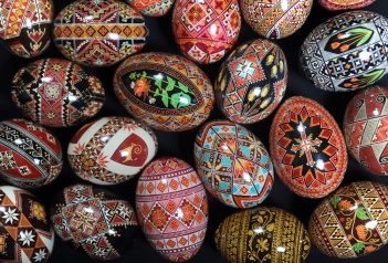 Take photos of Halyna (cq) Mudryi at her home with her egg collection. Interview her for the DARKROOM post.
